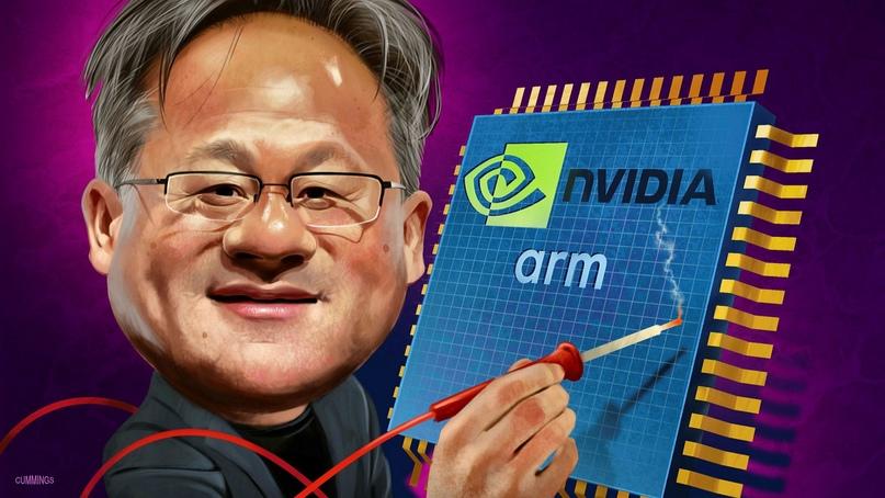 Дженсен Хуанг, глава Nvidia. Иллюстрация Financial Times