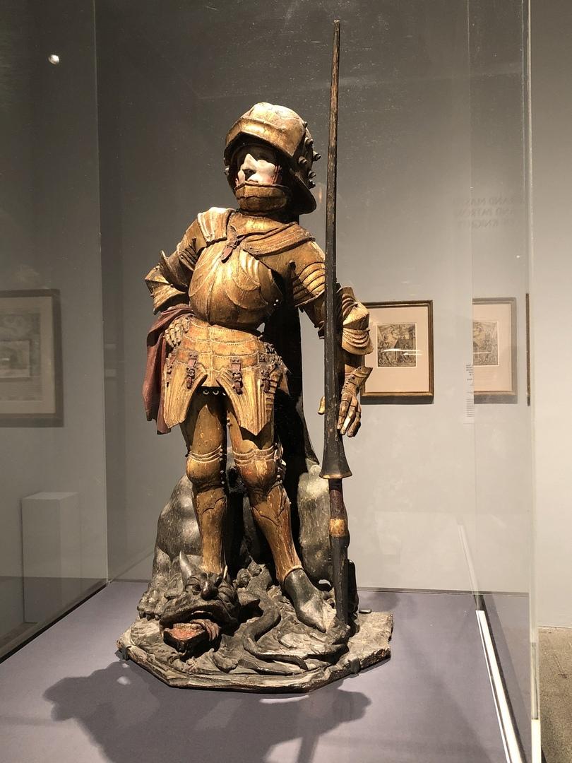 Святой Георгий с изображением доспехов в южногерманском стиле (около 1460-70 гг.)