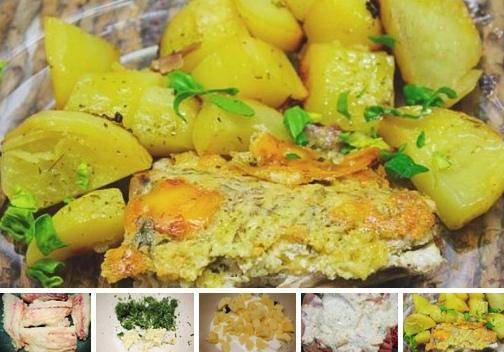 Скумбрия с сыром и чесноком в духовке