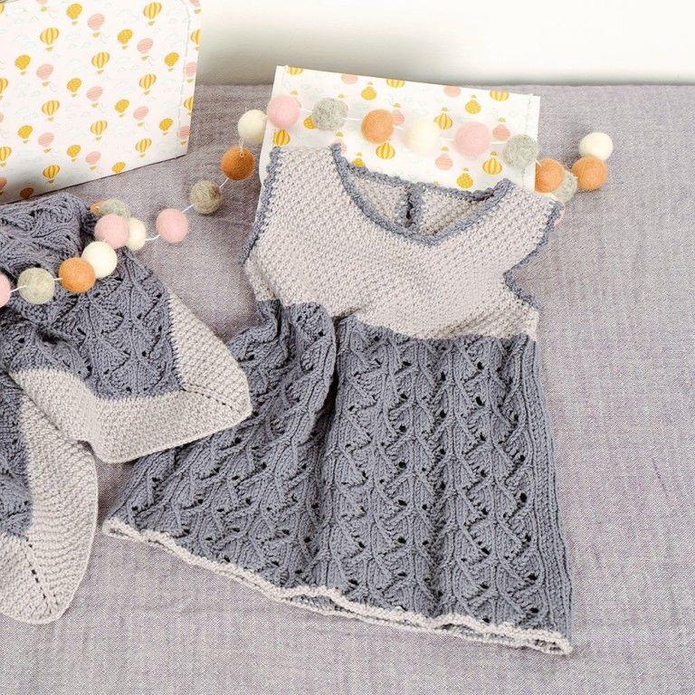 Платье в серых тонах (рекомендуем выполнить эту модель более яркими цветами пряж...