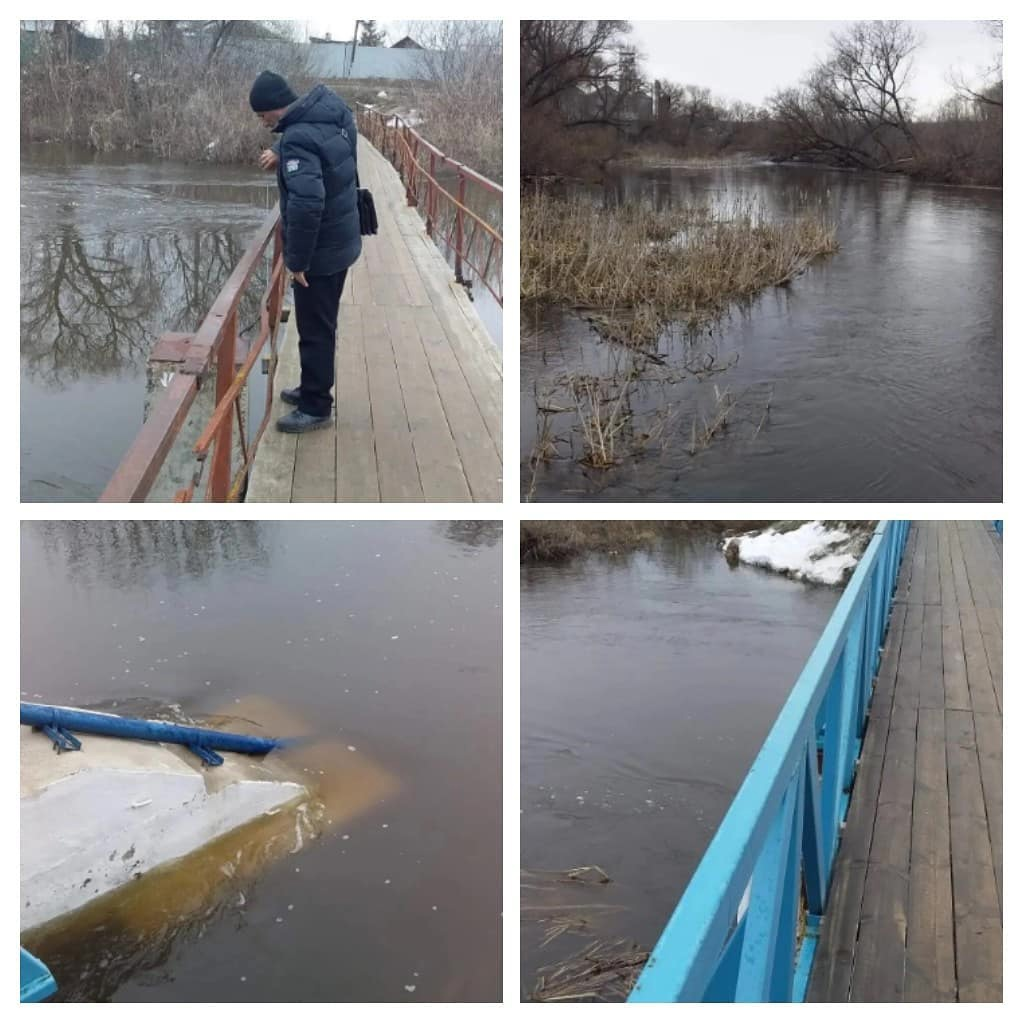 Паводковая ситуация на реке Медведице в районе города девятого апреля
