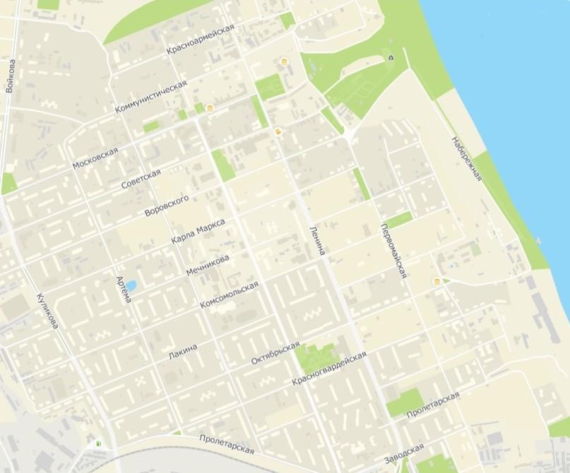 Карта современного г. Мурома