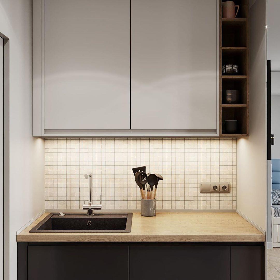 Проект маленькой квартиры-студии 18 м.