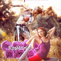 "Логотип ""RosMarine""- танец трайбл/йога/растяжка"