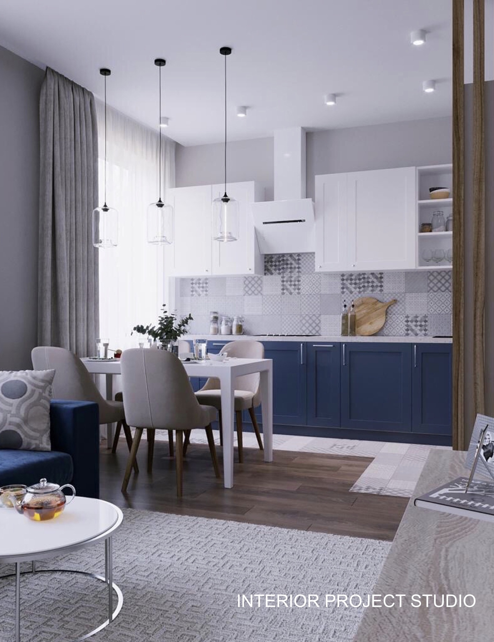 Дизайн квартиры-студии 37 кв.
