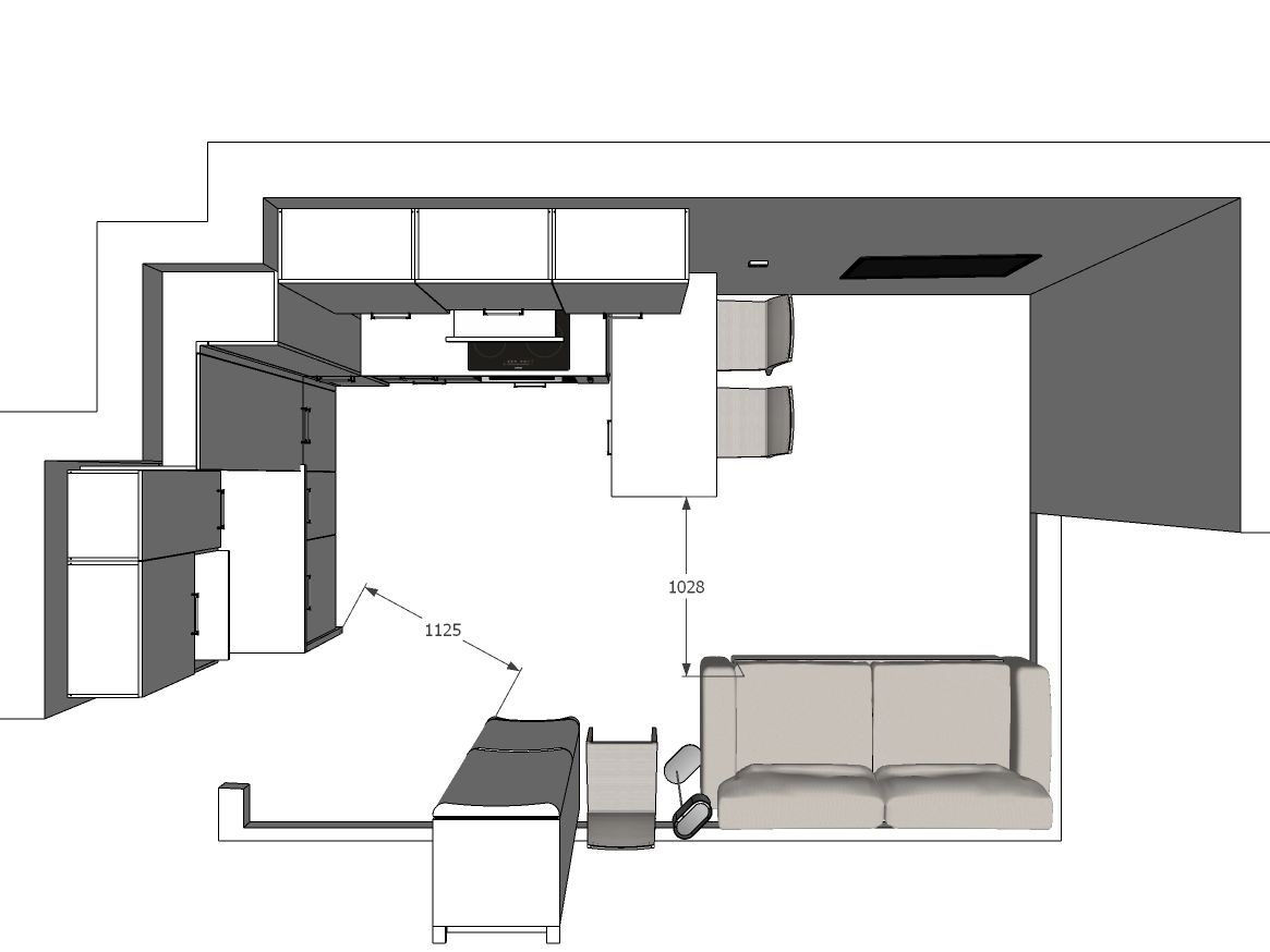 Как вам такая идея с мобильным столом для квартиры-студии?