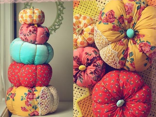Как сшить текстильную тыкву своими руками - коллекция МК