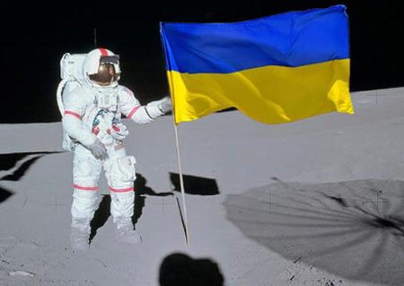 ⚡Украина возвращение в большой космос начнёт с установки флага на Луне