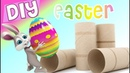 Cute easter crafts with tp rolls 🐰 Fun easy recycled diy Bunny Eggs Ostern Klopapierrollen Basteln