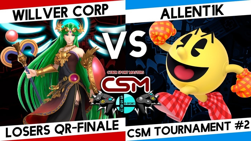 SSBU CSM tournament losers quarter finale Willver Corp Палютена vs Allent1k PAC MAN