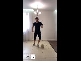 Футбольные упражнения на технику владения мячом.