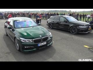 Alpina BMW B7 BiTurbo vs C63S AMG vs Audi RS6 Avant | BMW | BOOMER | БМВ