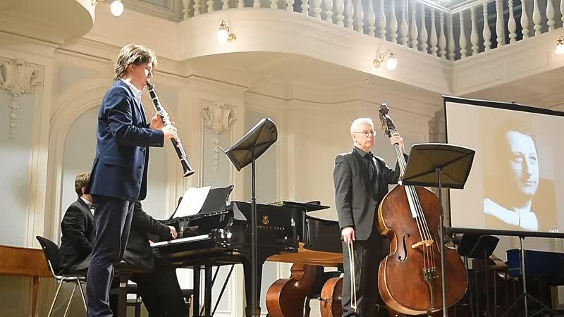 Довгань Трио для фортепиано кларнета и контрабаса 2 ч Исп В Довгань А Прищепа и Н Горбунов