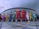 Power Ranger Zeo y MMPR Alien Team up versión sentai Sentai Ohranger vs Kakuranger