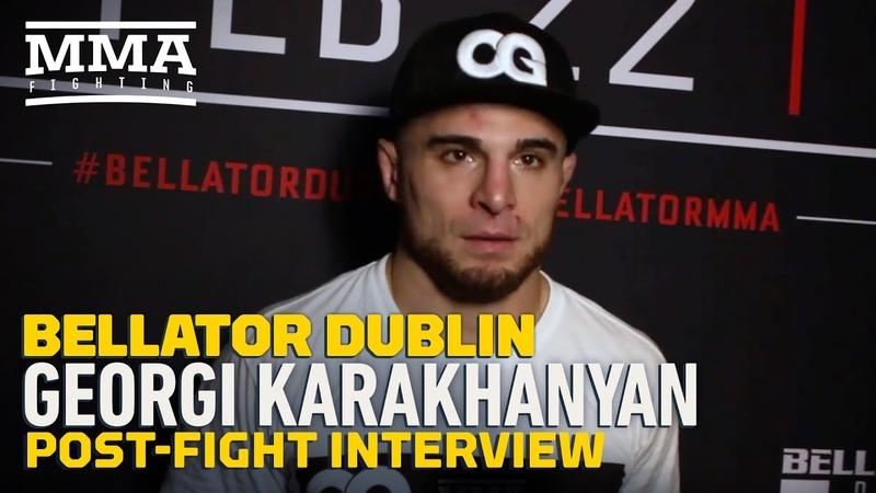 Georgi Karakhanyan Celebrates Birth of Son and Victory at Bellator Dublin MMA Fighting