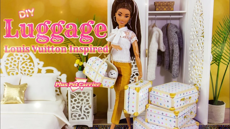 DIY How to Make Louis Vuitton inspired Luggage with Pet Carrier