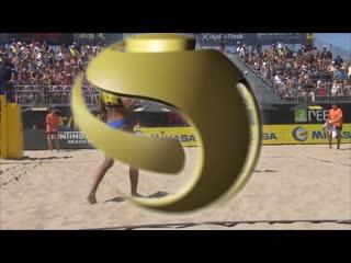 2018 FIVB Huntington Beach Open_ Ross_Hughes vs. Barbara_Alves