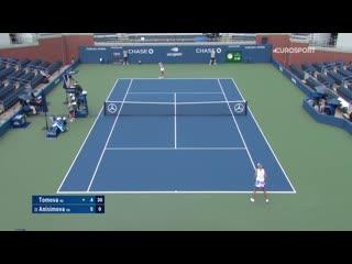 US Open 2020 1-й круг Viktoriya Tomova - Amanda Anisimova