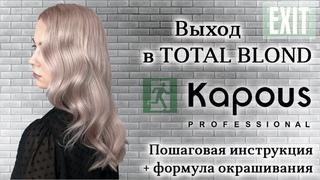 TOTAL BLOND на краске Kapous Professional (капус) || Пошаговая инструкция + формула окрашивания