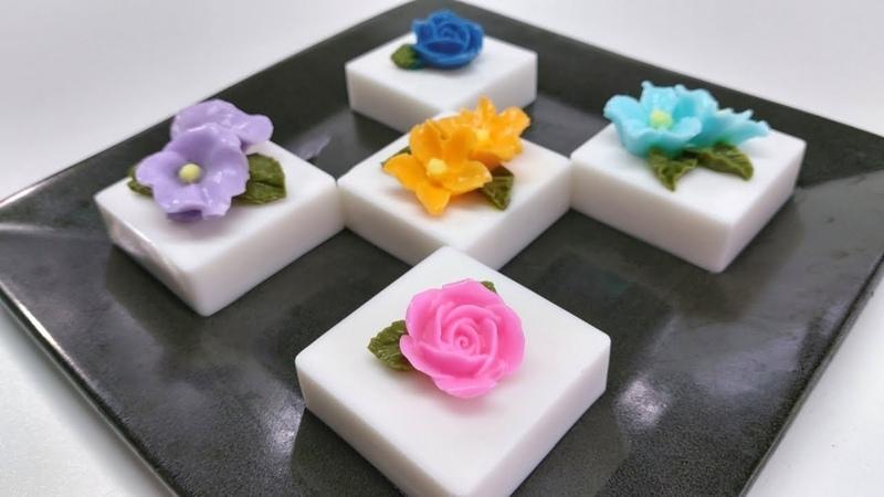 วุ้นแฟนซี สอนทำวุ้นเค้กดอกไม้ชิ้นเล็ก