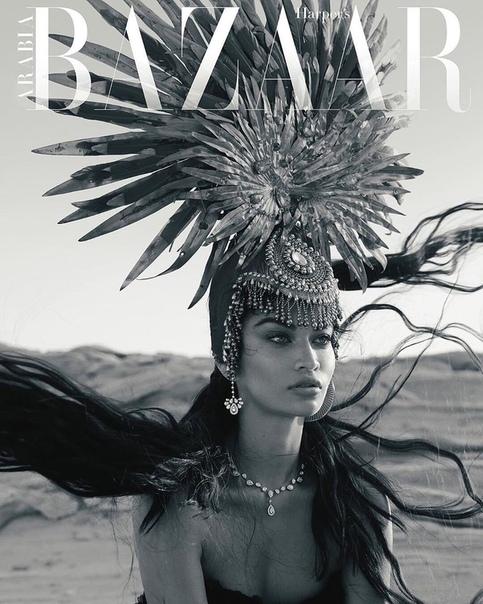 Shanina Shai for Harpers Bazaar Arabia, January 2020