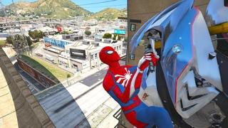 GTA 5 Gameplay Ragdolls Red Spiderman VS Batman & Superheroes (GTA 5 Euphoria Physics & Funny Fails)