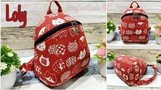 Cara membuat tas punggung lucu (Loly Backpack)