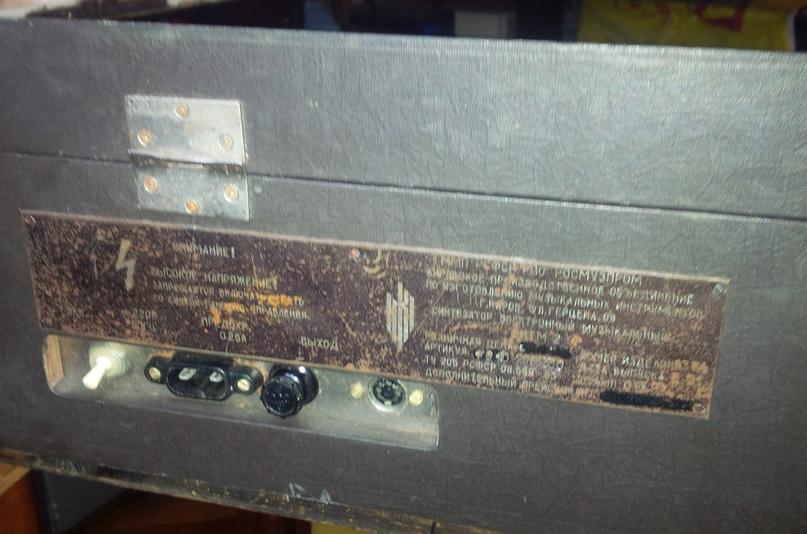 Выключатель электропитания, розетка сети 220 в, предохранитель на 0,25 А и разъём линейного выхода (не балансный, уровень 0,775 В)