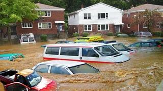 Apocalypse in Cedar City ! terible flash flood in Cedar  City  Utah, USA