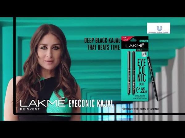 Kareena Kapoor Khan Lakme Eyeconic Kajal New TV Ad   The Deep Black Kajal That Beats Time