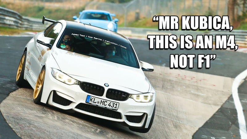 F1 Driver Robert Kubica in BMW M4 on the Nürburgring Fast Fun