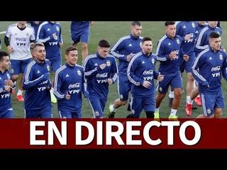 Entrenamiento ARGENTINA en DIRECTO desde Valdebebas   Diario AS