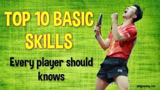 Top 10 Fundamental Skills Table Tennis