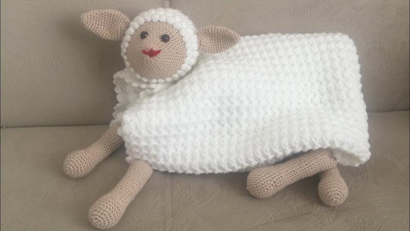 UYKU ARKADAŞI Kuzu battaniye Amigurumi battaniye Tığ işi kolay bebek battaniyesi PART 1