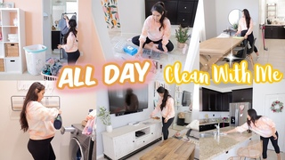 ALL DAY CLEAN WITH ME ✨ Deep Cleaning Motivation for SUMMER ☀️
