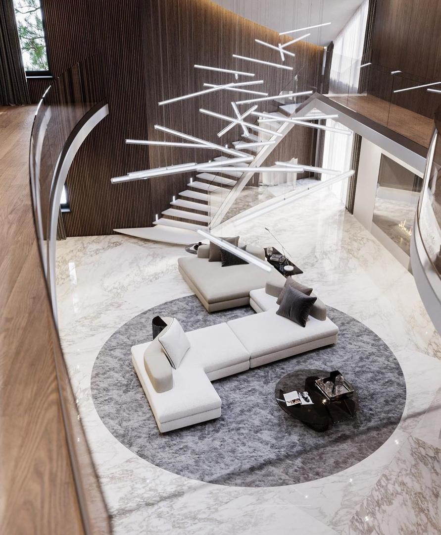 House in the suburbs of  designed by Kaminskyi Interiors/Stanislav Kaminskyi