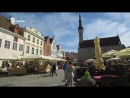 Estonia Travel Tallinn Viru Gate Walls Middle Age Town Hall Square