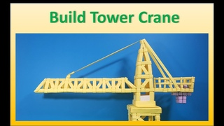 How to Build Origami Tower Crane | Origami Bricks and Tiles