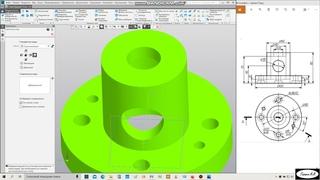 Работа в Компас 3D V18   Вариант 15Б с чертежом