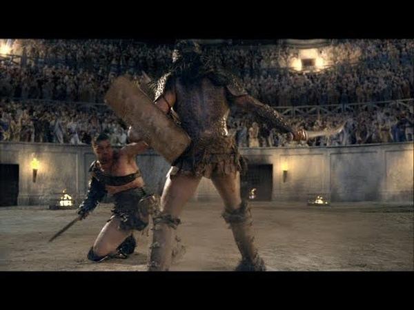 Crixo vs Pericles escena de Sangre y Arena
