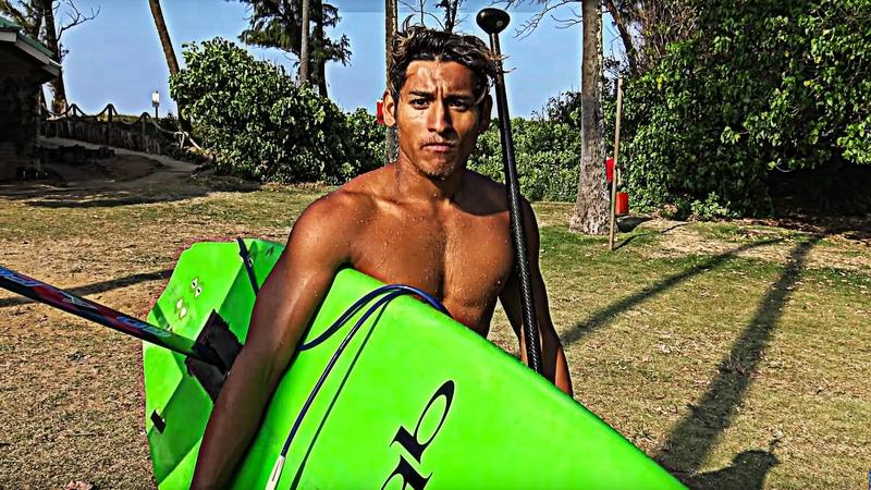 Foil Surfing Austin Kalama at Paia Bay