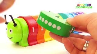 Лепим цифры из  пластилина от 1 до 10 Учимся считать с печеньками для детей для самых маленьких