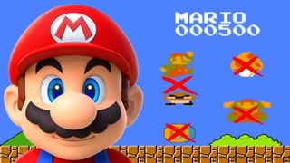 Super Mario Bros.. NES. - 500 Point Run, No Kills, No Coins, No Items Run, No Damage [Walkthrough]