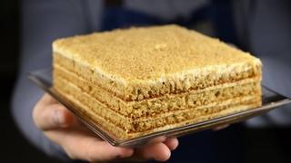 Нереально вкусный Медовый торт без раскатки коржей. Бисквитный медовик рецепт.