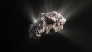 Artist's animation of the surface of interstellar comet 2I/Borisov