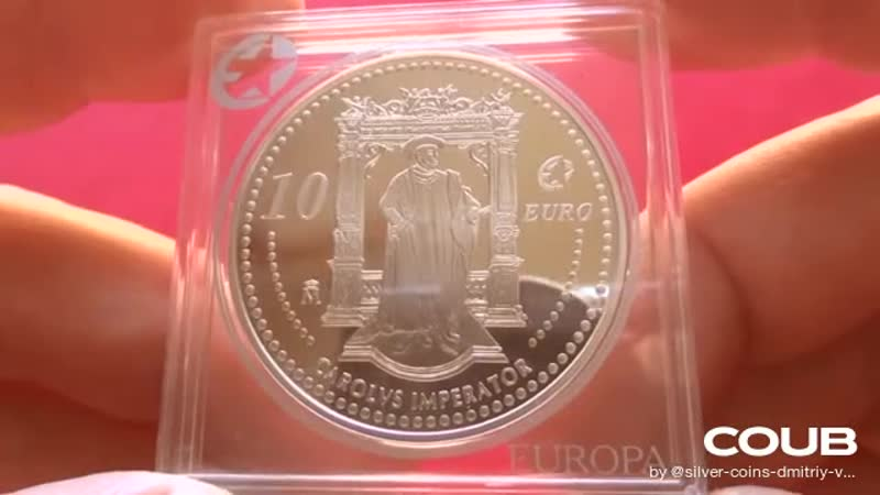 SPAIN SILVER 10 EURO 2006 PROOF CAROLVS IMPERATOR 2006 Испания Король Карлос I Карл V