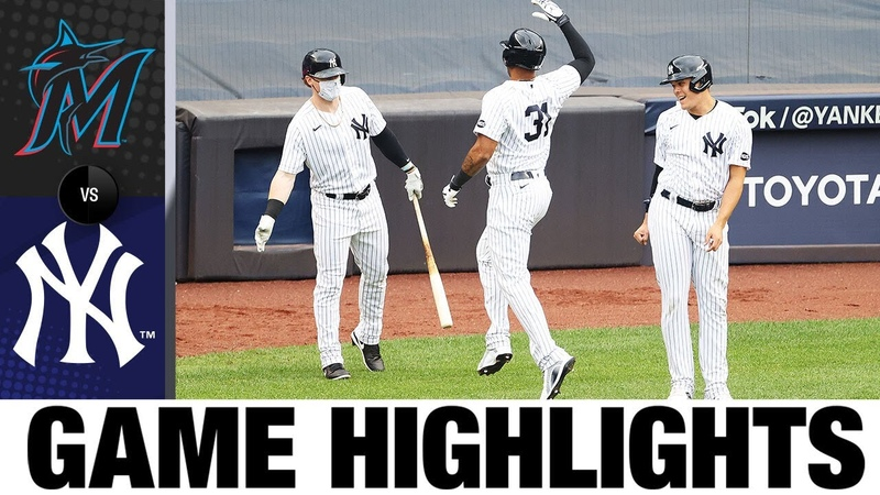 DJ LeMahieu Luke Voit power Yanks over Marlins 11 4 Marlins Yankees Game Highlights 9 26 20