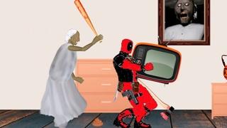 Granny VS Deadpool Cartoon Animation HD